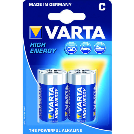 VARTA BATTERIJ HIGH ENERGY C 1.5V 2X