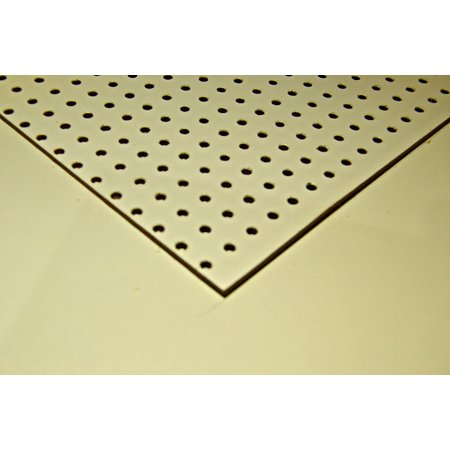 HARDBOARD (UNALIT) PERFORITE WIT 3MM 244 X 122CM