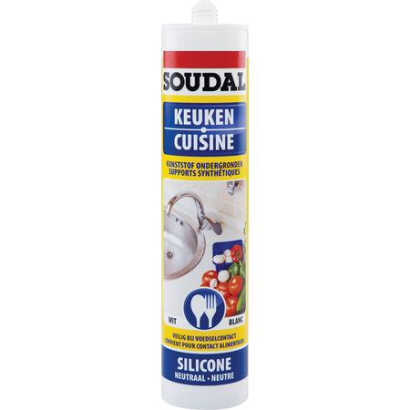 SOUDAL NEUTRALE SILICONE FOODSAFE WIT 300ML