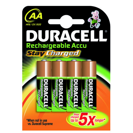 DURACELL BATTERIJ NI-MH STAYCHARGED AA 1950MAH 4X