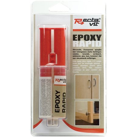 RECTAVIT EPOXY RAPID 2K - EPOXY LIJM METAALGRIJS 24ML